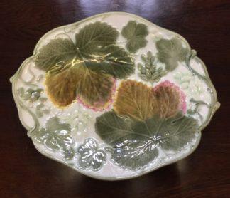 Wedgwood majolica fruit & vine dish, large size, 1887-0