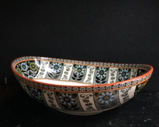 Wedgwood pottery bowl , Lilly pattern, c.1870-0
