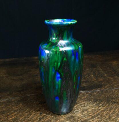 Minton Hollins & Co vase, blue & green glaze, c.1925-11441