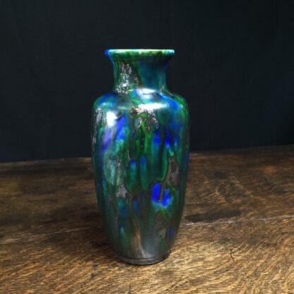 Minton Hollins & Co vase, blue & green glaze, c.1925-11442