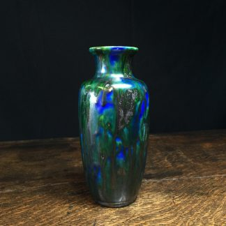 Minton Hollins & Co vase, blue & green glaze, c.1925-0