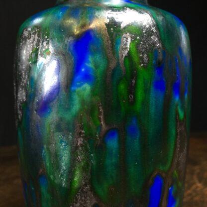 Minton Hollins & Co vase, blue & green glaze, c.1925-11445