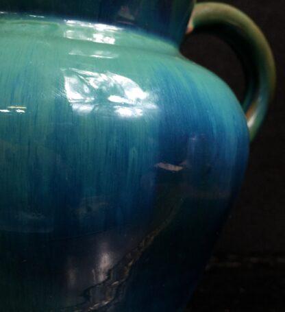 Dicker Pottery jug, turquoise glaze, c.1935-11550