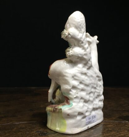 Small Staffordshire 'milkmaid' spill vase, c.1865-11584