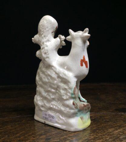 Small Staffordshire 'milkmaid' spill vase, c.1865-11585