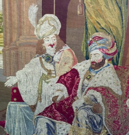 Large Victorian tapestry, Joseph presenting his father to Pharaoh, dated 1853. -11109