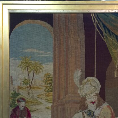 Large Victorian tapestry, Joseph presenting his father to Pharaoh, dated 1853. -11111