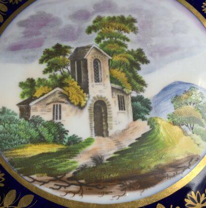 Newhall saucer dish, brightly coloured batt print, pat. 1150, c.1805-11132