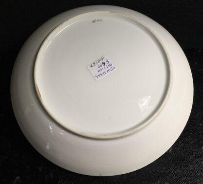 Newhall saucer dish, brightly coloured batt print, pat. 1150, c.1805-11136