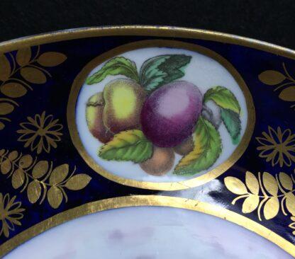 Newhall saucer dish, brightly coloured batt print, pat. 1150, c.1805-11137