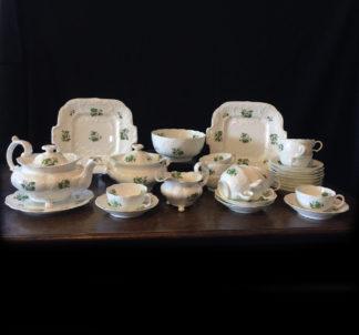 Minton tea service for 12, Bath Embossed shape, pattern 42, circa 1830-0