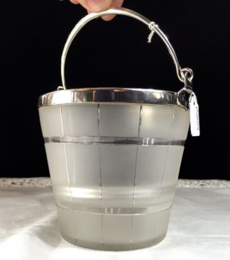 Victorian ice bucket with plated mounts, c.1880-0