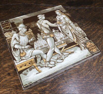 Minton tile, 'Quentin Durward' by Moyr Smith, c. 1880-12202