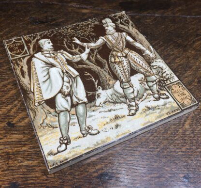Minton tile, 'Fortunes of Nigel' by Moyr Smith, c. 1880-12203