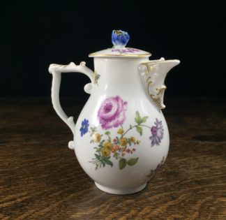 Meissen covered milk jug, deutscheblumen flowers, c. 1755-0