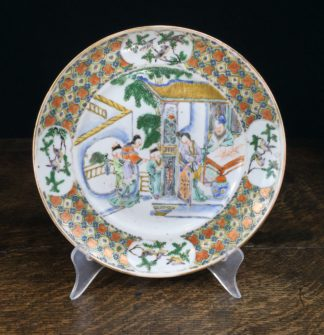 Chinese export plate, 'Western Chamber' scene, Qianglong period c.1760.-0