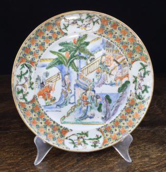Chinese export plate, 'Western Chamber' scene, Qianglong period c.1760 .-0