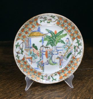 Chinese export plate, 'Western Chamber' scene, Qianglong period c.1760-0