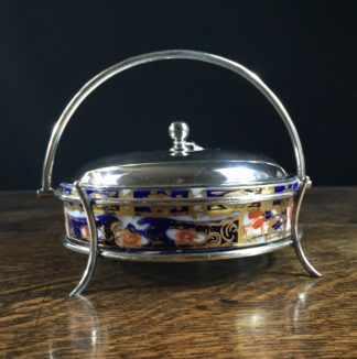 Davenport Imari serving dish, plated mounts, c.1880-0
