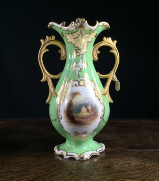 Rococo form English porcelain vase, perhaps Alcock, circa 1830 a/f-0