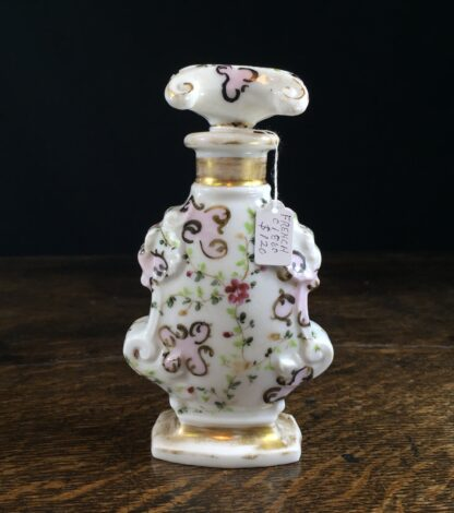 French porcelain perfume bottle, scrolls, circa 1860-11711