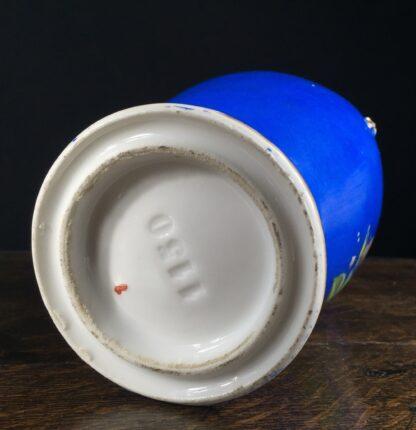 French porcelain vase, blue ground with dog rose, c. 1880-11720