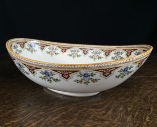 Wedgwood pottery bowl , printed pattern, dated 1884-0