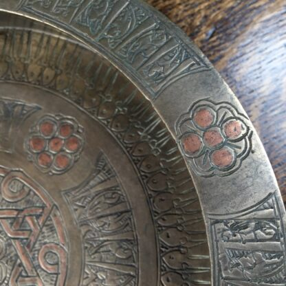 Islamic bronze dish with inscriptions, 19th century or earlier-11926