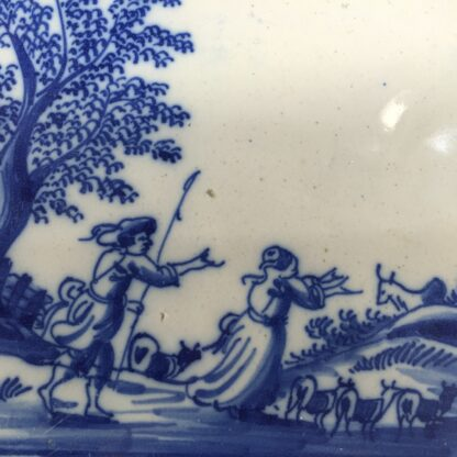 Dutch Delft tile - shepherd & shepherdess, C. 1700 -11931