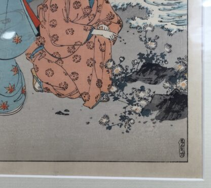 Japanese woodblock print, two ladies by Toschikata, c.1890 -11971