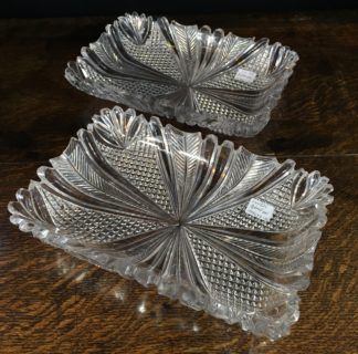 Pair of Regency quality cut glass dishes, circa 1825 -0