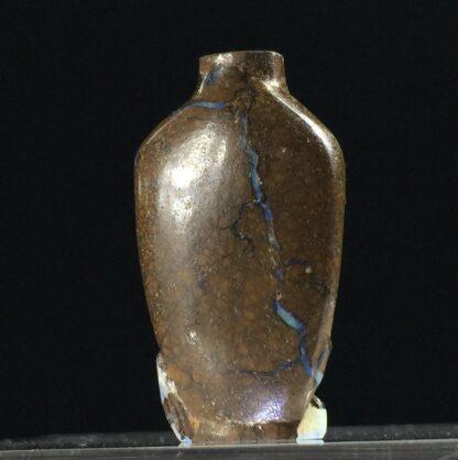 Australian Boulder Opal miniature vase with Dragon, 20th century-12054