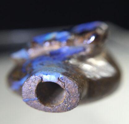 Australian Boulder Opal miniature vase with Dragon, 20th century-12055