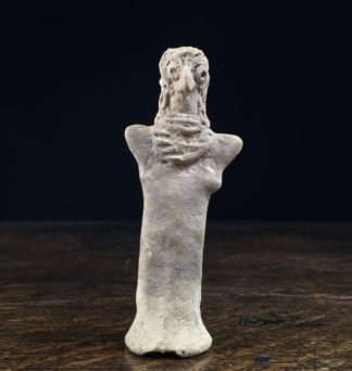Hittite pottery figure of Astarte, fertility goddess, Syria 2nd millennium BC-0