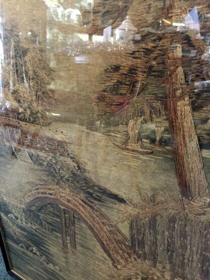 Japanese scenic tapestry, circa 1900 -12450