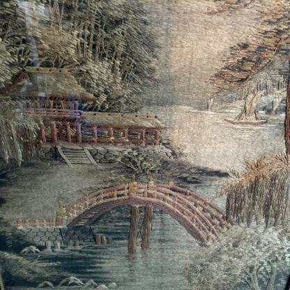 Japanese scenic tapestry, circa 1900 -12453