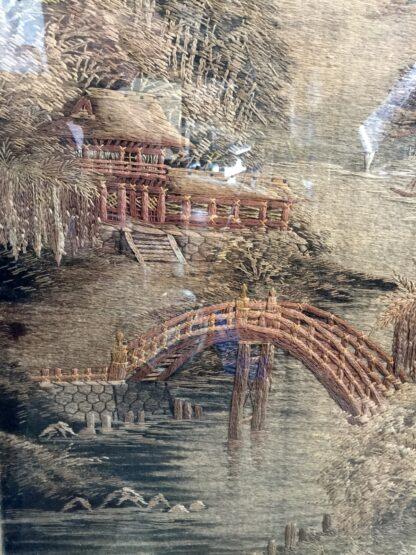 Japanese scenic tapestry, circa 1900 -12454