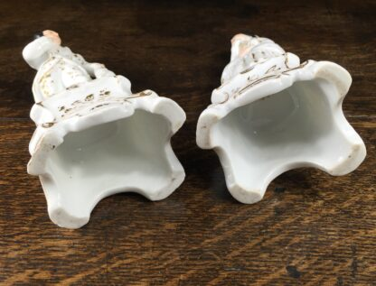 Pair of French porcelain figures on plinths, 19th century-12470