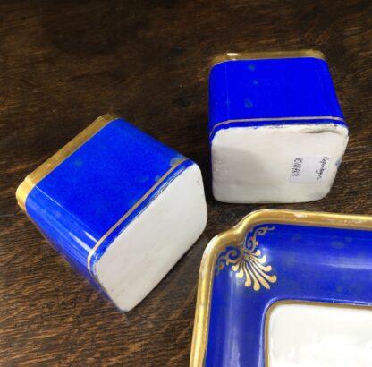 Copenhagen porcelain desk set, sander & inkwell, c.1830-45-12547