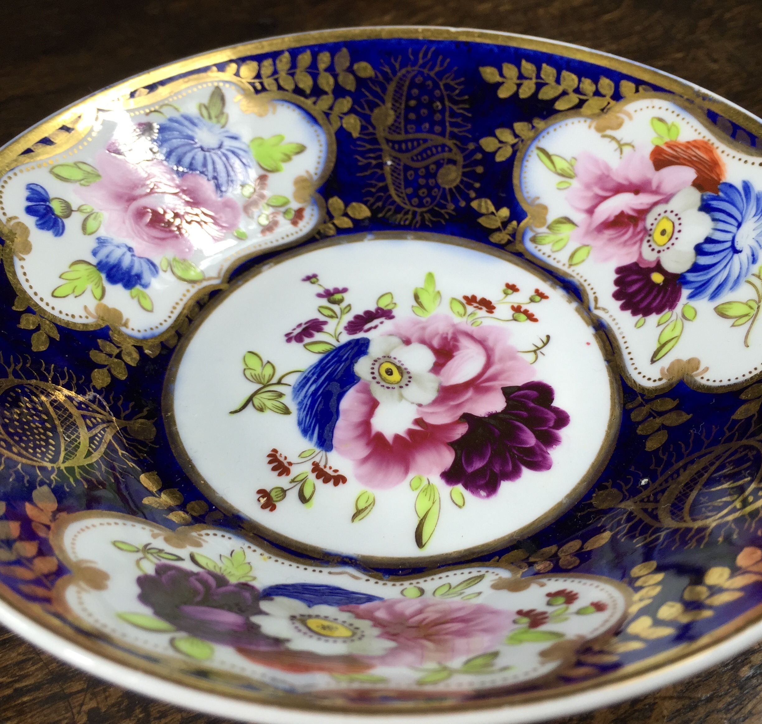 English bone china cup & saucer, probably Bourne, c. 1825-12556