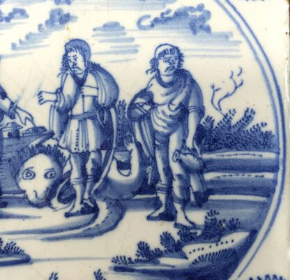 Delft tile, biblical scene with three prophets, c. 1720 -12791