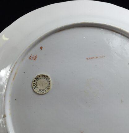 Wedgwood bone china plate, flower specimen prints, C. 1815 -12897