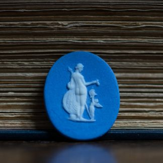 Wedgwood style jasper plaque, classical figure, early 19th century-0