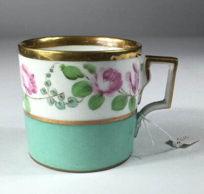 Vienna coffee can, rose swag, dated 1856-0