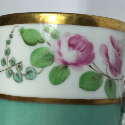Vienna coffee can, rose swag, dated 1856-13003