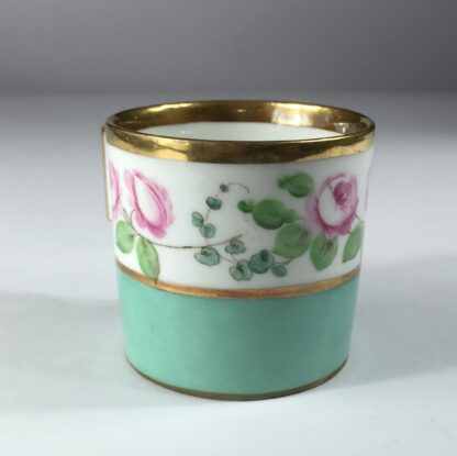 Vienna coffee can, rose swag, dated 1856-13004