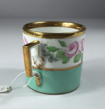Vienna coffee can, rose swag, dated 1856-13005
