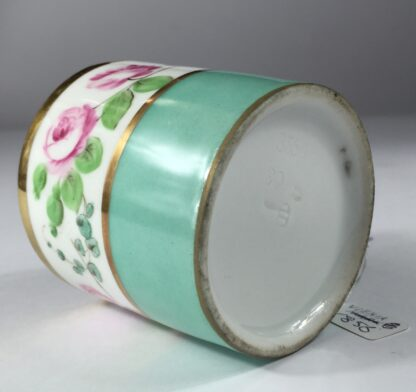 Vienna coffee can, rose swag, dated 1856-13006