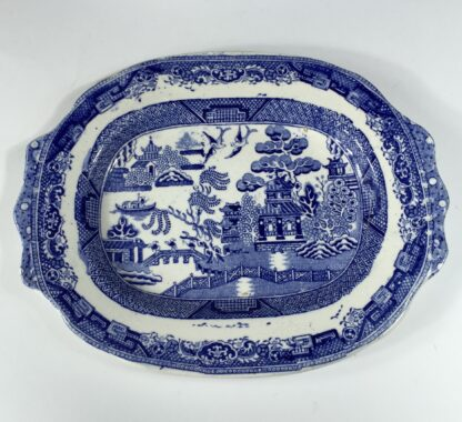 Willow Pattern small tureen & stand, MWH - British Anchor Pottery, c. 1860-13016