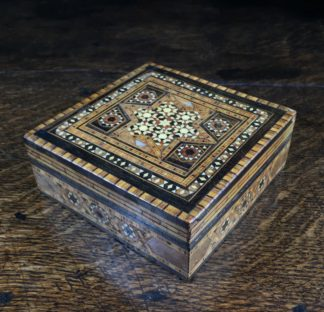 Damascus ware inlaid box, mid 20th century-0
